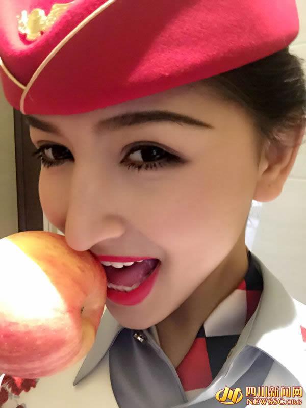 500名性感空姐开网店 卖亲吻过的苹果